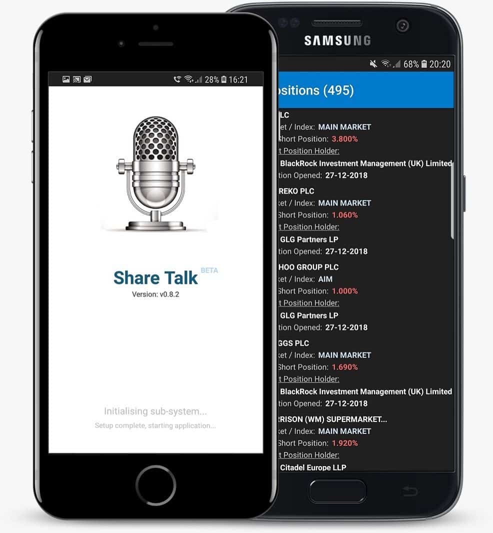 Share Talk Stocks Mobile Application